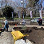 麻溝公園 風のガーデン 植栽作業